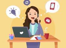 مطلوب للعمل مندوبات مبيعات عبر الهاتف