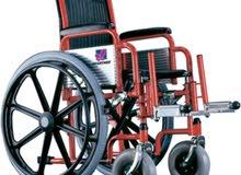 كرسي متحرك عادي للأطفال ذوي الاعاقة مقاس  14 انش صناعة تايوانية