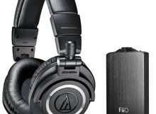 Audio Technica ATH-M50x Headphones and FiiO A3 Amplifier Bundle