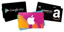 كروت ايتونز و قوقل بلاي - iTunes & Google Play