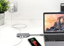 موزع هوب للماك بوك ، والماك بوك برو USB-C