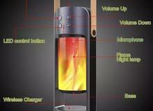 مكبر صوت لاسلكي محمول متعدد الاستخدامات يحتوي علي شاحن ومصباح وسبيكر