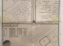 ارض سكني للبيع مساحتها 647