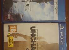 لعبة star wars جديده ولعبة uncharted collection 1-2-3 في قرص واحد مستعمله
