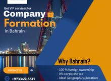 Get VIP services for company formation in Bahrain