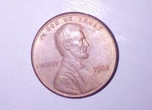1 cent امريكي 1983