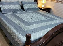 Beautiful bedsheets fitted and unstitched are available