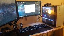 TuF Gaming GTX SUPER كمبيوتر قيمنق بحاله جديده مع شاشه وملحقاته لا اقبل التفاوض