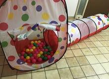 لعبة خيمة طفل مع خرطوم وكرات