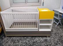 سرير جديد مزدوج من عمر يوم الى عمر 15 سنة، حاجة صح حديد راكب