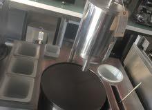 ماكينة صنع الحلويات الغربيه(وافل-كريب كيك-بان كيك-ايس كريم صاج)