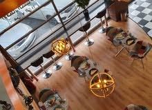 مطعم بالمعارض مساحة 300 متر مع كامل المعدات والأثاث ديكورات مودرن