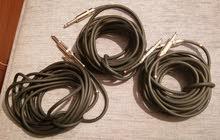 3 medium-length Neutrik studio sound cables.