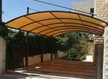 تفصيل جميع انواع المظلات والسواتر والجدار العشبي واعمال الحدادة والحام