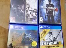 العاب PS4 للبيع او للبدل