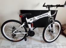 land rover mountain bike nearly new دراجة لاند روفر شبه جديدة
