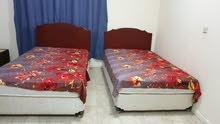 غرفة نوم سريرين مقاس 120 مع دولاب 4 ابواب