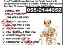 Wife n Kid Visa,Husband Visa,Mother Visa,Dubai Family Visa