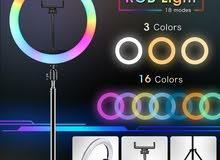 RGB ringlight 3 light and 15 rgb color
