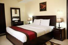 غرفه وصاله نظام فندقي للايجار الشهري في عجمان علي شارع خليفه الرئيسي