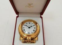 ساعة كارتيه مع منبه مش للبس توضع علي الكمودينو CARTIER PARIS Alarm Clock, Boxed