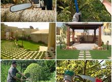 تنظيف الحدائق من مخلفات قص العشب و الاشجار