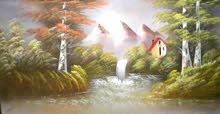 لوحات زيتية وفحم لإضفاء الجمالية لمنازلكم القدموس