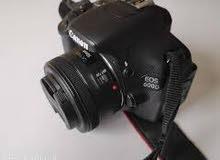 كاميرا كانون 600 دي + عدسه 50mm الاصدار الثاني + شنته