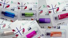 فلاش USB 3 0 مساحته 64Gb ماركةSanDisk الأمريكية المعروفة و هي اصلا جزء من شركة WD الشهيرة