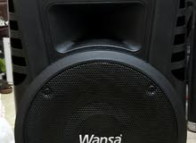 used wansa trolley speaker bluetooth rechargeable