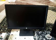 شاشة hp led 19 insh بها سماعات