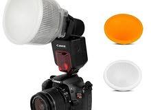 ناشر اضاءة فلاش كاميرا على شكل مصباح شفاف P4 من كاميرا هاوس