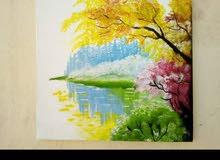 لوحة فنية مميزة لطبيعة  اللبيع