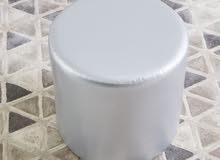 silver ottoman stool / كرسي عثماني سيلفر متعدد الاستخدامات