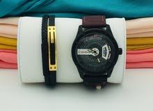 ساعة يد مع اكسسوارات بجودة عالية