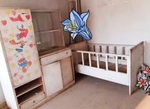 غرفه نوم طفل كنتور مع سرير خشب اصلي قديم