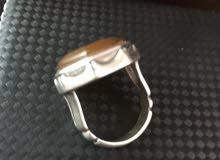 خاتم عقيق يماني اصفر