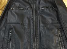 جاكيت رجالي جلد من امريكا لون أسود ماركة كالڤن كلاين ( calvin klein)