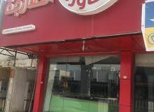 للايجار مطعم فتحتين مع شقه سكن للعمال فوق المطعم