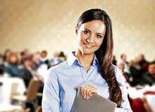 Female event management executive