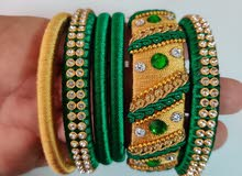 Colorful indian bracelets - yellow, red, green, blue