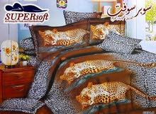 طقم ملاية سرير كبير واطفال شكل الفهد