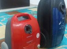 مكنسه كهرباء سامسونج حجم صغير 1600w  + مكنسه LGحجم كبير 1700w