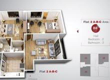 شقة بالخوض التجارية (استلم الشقة خلال ستة اشهر وقسط الباقي علي سنتين )