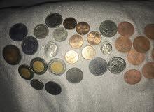 عملات نقدية قديمة للبيع من دول مختلفة