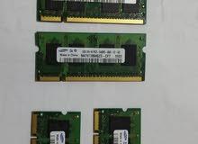 عدد 5 رامات لاب توب DDR2 فقط 200 الكل