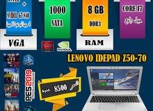 LENOVO Z51-70 CORE I7+Ram12Gهارد750+ كارت فيجا 10جيجا لجرافيك 2019بكفااءه