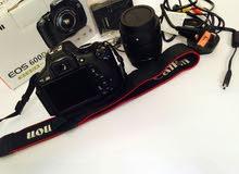 كاميرا كانون EOS 600d للبيع كاملة