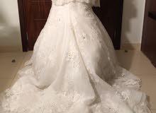 فستان عروسه انييق من تصميم المصممه بسمه الجزائري