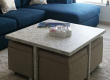 center table with 4 storing stools, very comfortable, very excellent condition